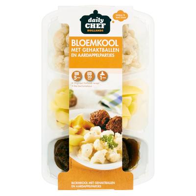 Huismerk Hollands Bloemkool Gehaktballen Aardappelpartjes 500 g