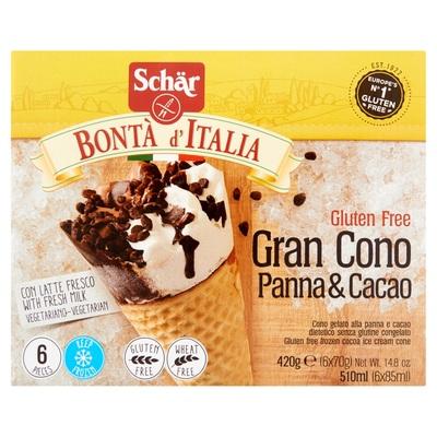 Schär Bontà d´ Italia Gluten Free Gran Cono Panna & Cacao 6 x 85 ml