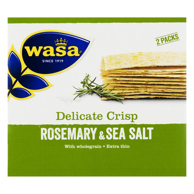 Wasa Delicate thin crisp rosemary & salt
