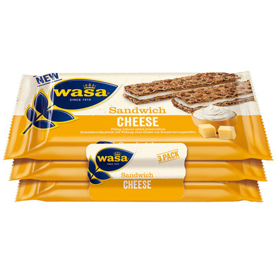 Wasa Sandwich cheese 3-pack
