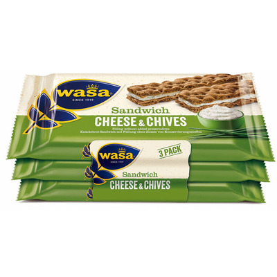 Wasa Sandwich cream cheese & chives