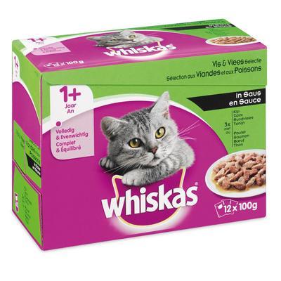 Whiskas Vlees En Vis Selectie In Saus 1 + Jaar 12 X 100 G