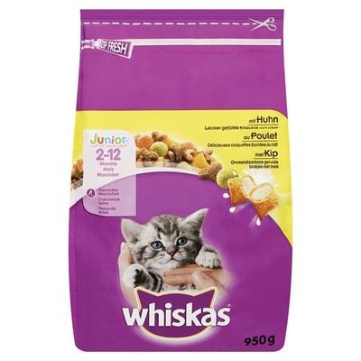 Whiskas Junior Kattenvoer Brokken met kip