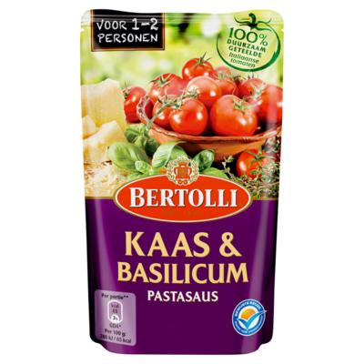 Bertolli Pastasaus In Zak Kaas & Basilicum 1-2 Porties 260 g