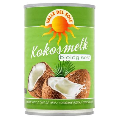 Valle Del Sole Kokosmelk Biologisch 400 ml