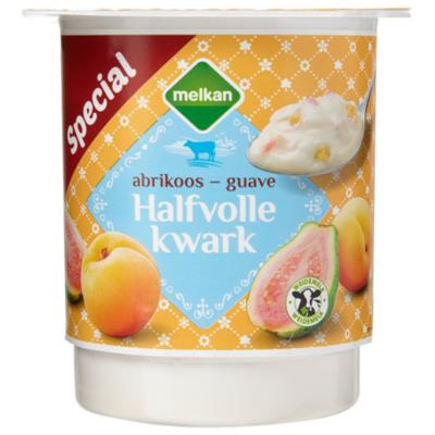 Melkan Halfvolle kwark abrikoos-guave