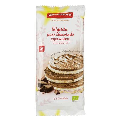 Zonnatura Belgische pure chocolade rijstwafels