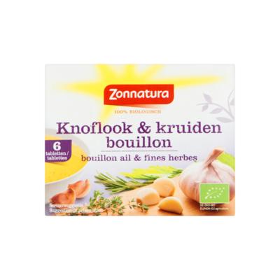 Zonnatura Knoflook & Kruidenbouillon 6 Stuks