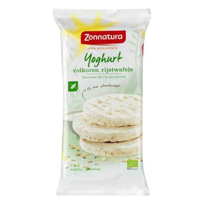 Zonnatura Yoghurt volkoren rijstwafels