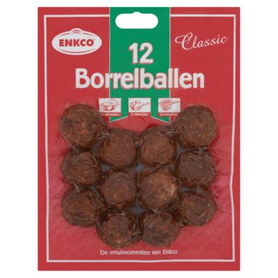 Enkco Borrelballen Classic 12 Stuks 200 g
