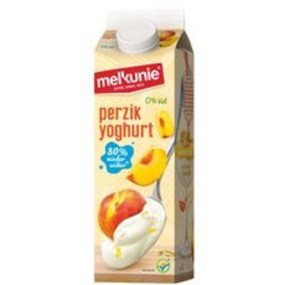 Melkunie Perzik yoghurt 0% vet 1 liter