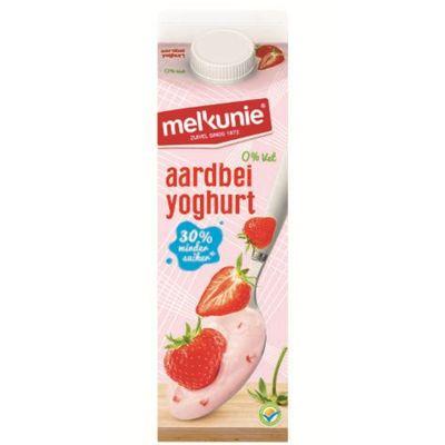 Melkunie Magere Yoghurt Met Aardbei Stukjes