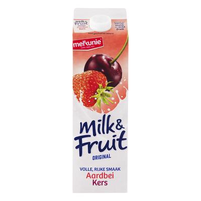 Melkunie Milk & fruit lichtzoet aardbei-kers