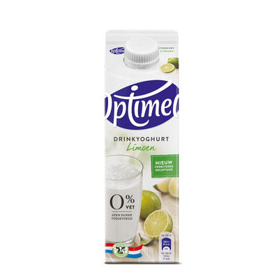 Optimel Drinkyoghurt limoen 0% vet