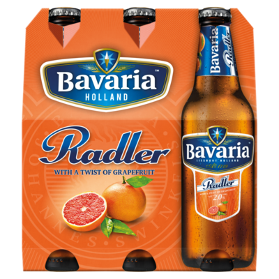 Bavaria Radler Grapefruit Flessen 6 x 30 cl