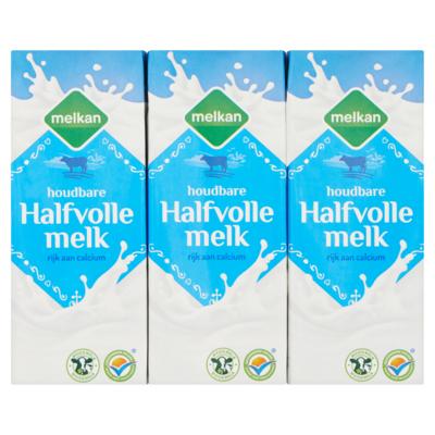 Melkan Halfvolle melk 6x 200 milliliter