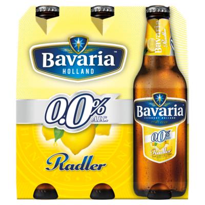Bavaria 0.0% Radler Citroen Alcoholvrij Bier 6 x 30 cl