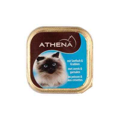 Athena Kattenvoer kuipje paté zeevis-garnalen