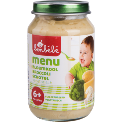 Bonbébé Maaltijdpotje 6 mnd+ broccoli/bloemkool/kaas