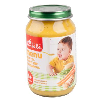 Bonbébé Menu 6+ mnd wortel-erwt-kip-aardappel
