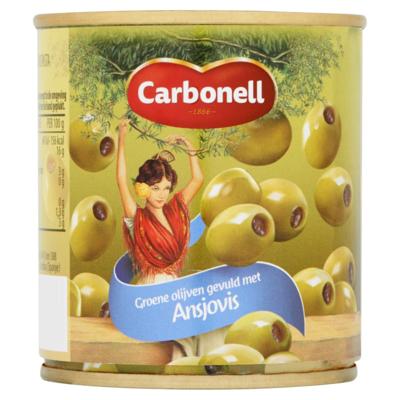 Carbonell Olijven met ansjovis