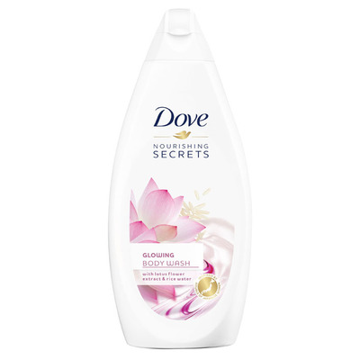 Dove Showergel glowing