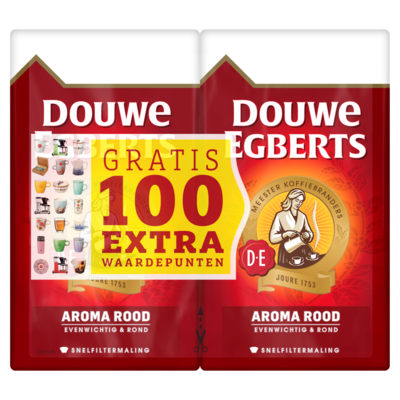 Douwe Egberts Koffie aroma rood snelfilter 2x500 gram