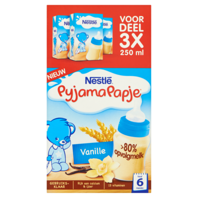 Nestle Pyjamapapje vanille 3-pak