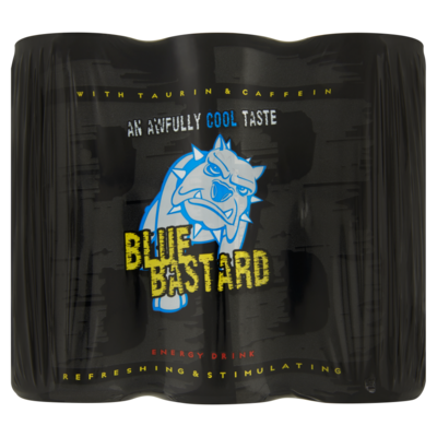 Blue Bastard Energy Drink 6 x 250 ml