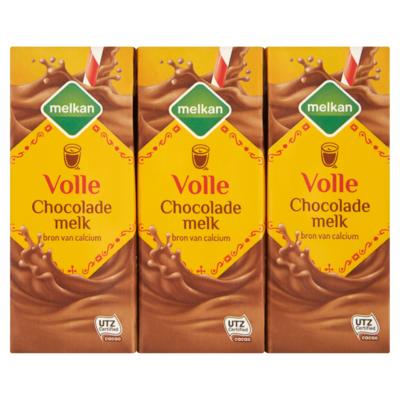 Melkan Chocolademelk vol 6x 200 milliliter