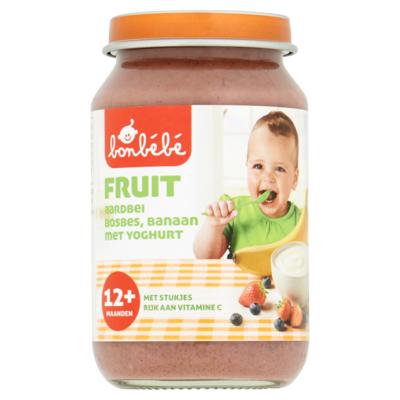 Huismerk Fruit 12 maanden rood fruit yoghurt