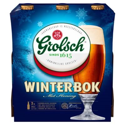 Grolsch Winterbok Flessen 3 x 30 cl