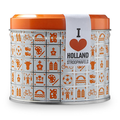 Daelmans Stroopwafels blik oranje