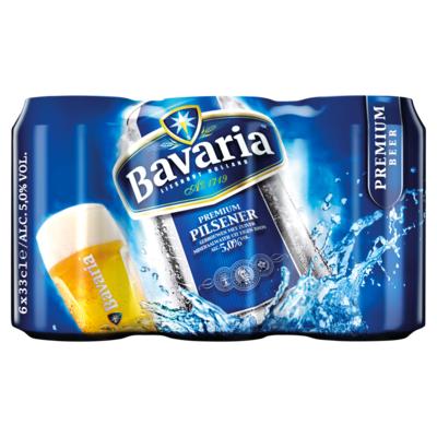 Bavaria Premium Pilsener 5.0% Blik Bier 6 x 33 cl