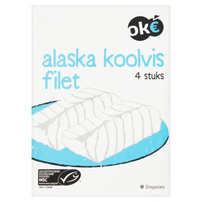 Budget Huismerk Alaska Koolvisfilet 4 Stuks 412 g