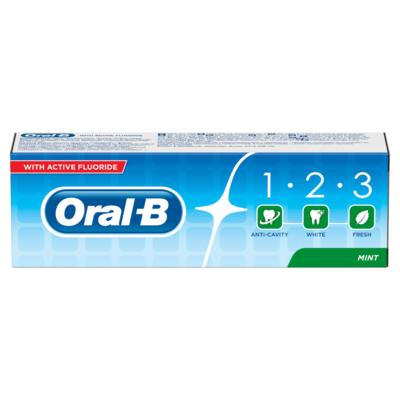 Oral B 1.2.3 Mint Frisse Tandpasta 75ml