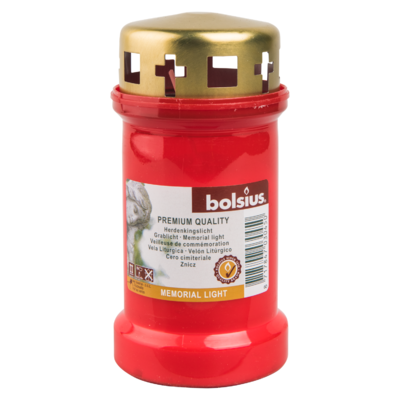 Bolsius Herdenkingslicht met deksel