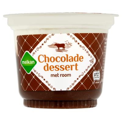 Melkan Chocolade Dessert met Room 200 g