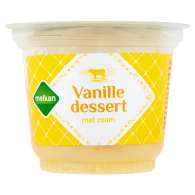 Huismerk Dessert met room vanille
