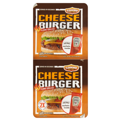Flemmings 2 Cheeseburger Flame Grilled 261 g