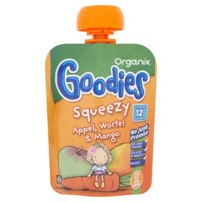 Organix Goodies squeezy appel, wortel, mango