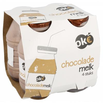 Budget Huismerk Chocolademelk halfvol 4-pack