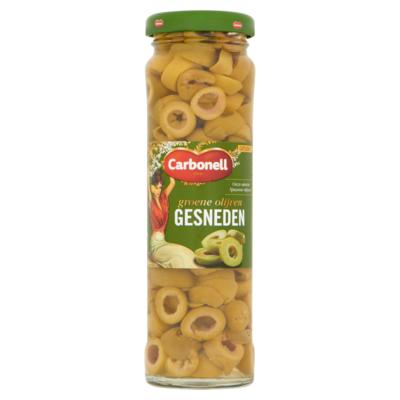 Carbonell Groene Olijven Gesneden 140 g