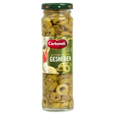 Carbonell Gesneden groene olijven 140 gram