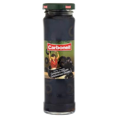 Carbonell Gesneden zwarte olijven 140 gram