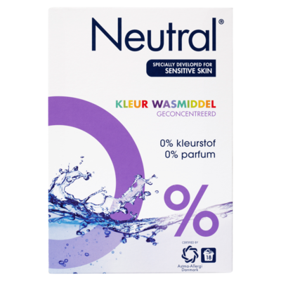 Neutral Waspoeder Kleur Parfumvrij 18 Wasbeurten