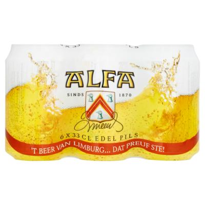Alfa Edel Pils Blikken 6 x 33 cl