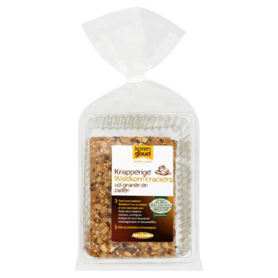 Korengoud Korengoud Knapperige Waldkorn Crackers Vol Granen en Zaden 8 Stuks