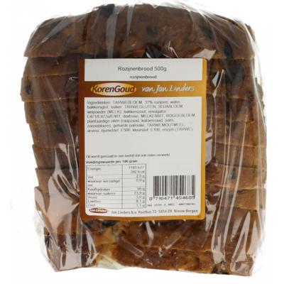 Korengoud Rozijnenbrood