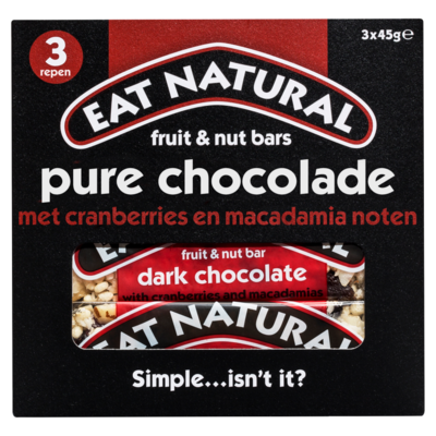 Eat Natural Pure choco cranberry macadamia